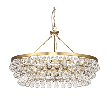 Bling Chandelier Brass 33W/24H