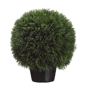 Cedar Ball Topiary 20in