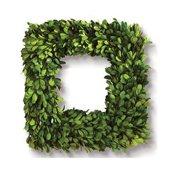 Boxwood Wreath SQ (Preserved) 16in