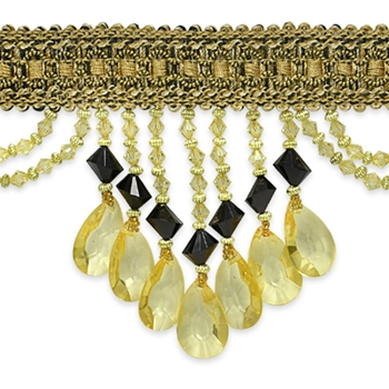 Glass Fringe Tuscan Isabella 4in
