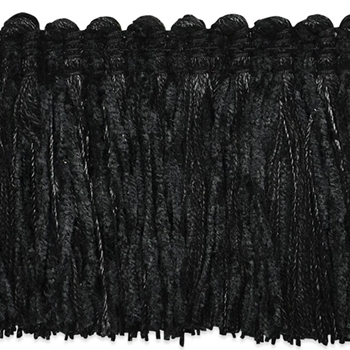 Moss Fringe Black Chenille 2in