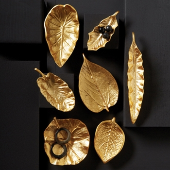 Brass Leaf Dish 5-7in
