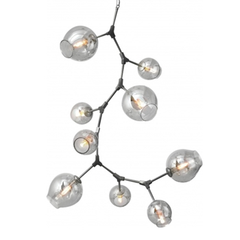 Madrone Nickel Chandelier 38W/70H