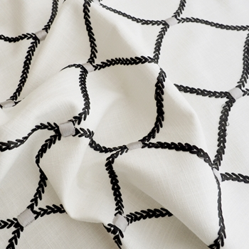 16. Blk/White Embroidered Deane Zinc