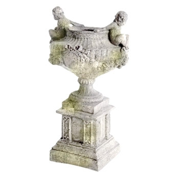 Urn Bambini Cup 8W/14H White Moss