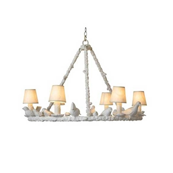 Chandelier White Bird 31W/21H