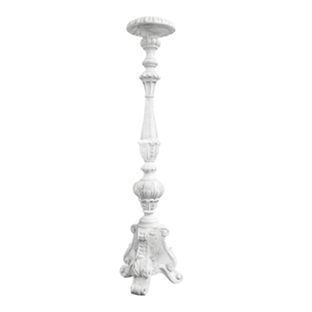 Candle Holder Kimple 8W/38H Oyster