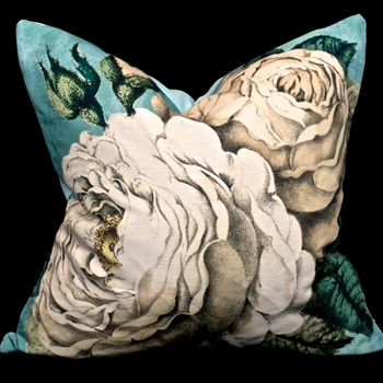 ***John Derian The Rose Swedish Blue 20SQ