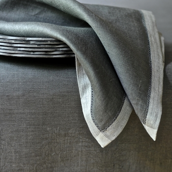 Linen Napkin Majesty Pewter 21SQ