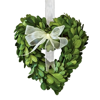Wreath Boxwood Heart 7IN