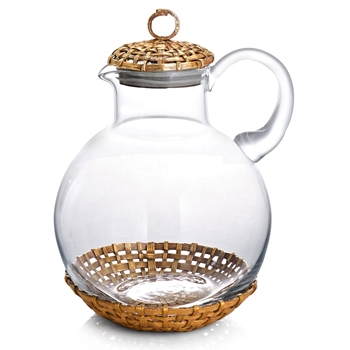 Aram Palm Gold Pitcher 68OZ 8IN