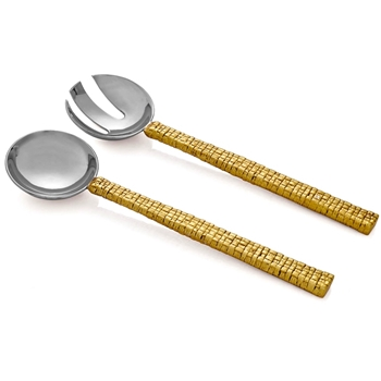 Aram Palm Gold Salad Servers
