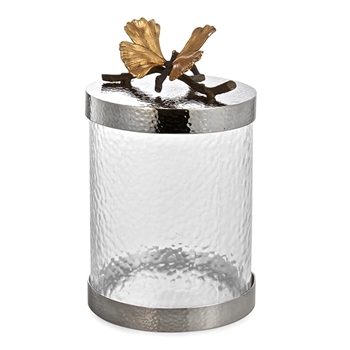 Aram Butterfly Gingko Canister SM 8IN