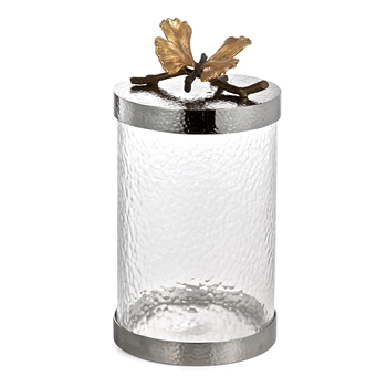 Aram Butterfly Gingko Canister MD 10IN