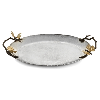 Aram Butterfly Gingko Tray Oval 12W/10D