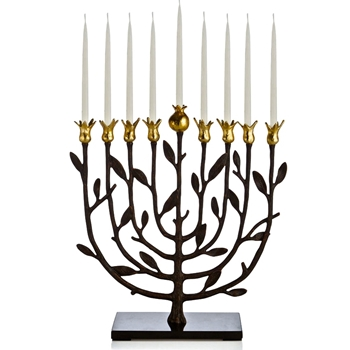 Aram Pomegranate Menorah 12W/12H