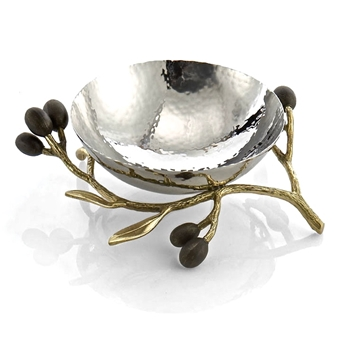 Aram Olive Gold Bowl Nut 6IN