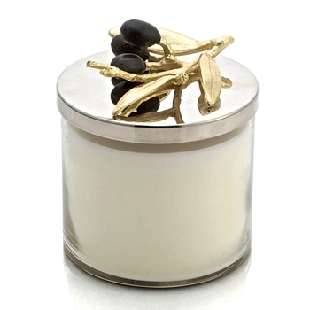 Aram Olive Gold Candle Jar 4IN