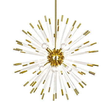 Chandelier Andromeda Gold 28IN Sphere