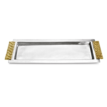 Aram Palm Gold Vanity Tray