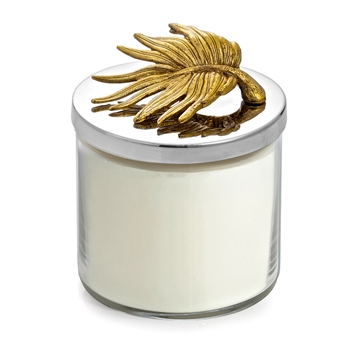 Aram Palm Gold Candle Jar 4W/5H