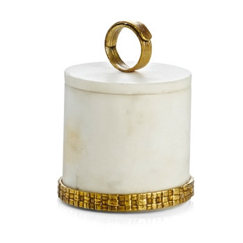 Aram Palm Gold Vanity Box