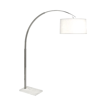Lamp Floor Archer Silver 53W/66H