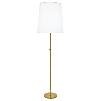 Lamp Floor Buster Brass/White 22W/80H