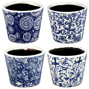 Planter - Delft Evelyn Pot  5.5W/5H AST