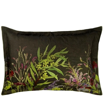 Designers Guild Indian Sunflower Graphite Linen Bedding