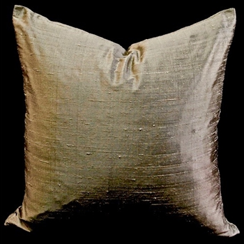 22. Dupion Bronze 18SQ Cushion