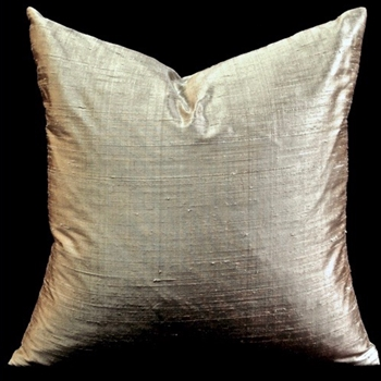 07. Dupion Silk Cushion Sand 18SQ