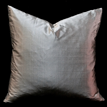 27. Shantung Cushion Pewter Silver 18SQ