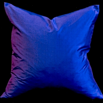 32. Shantung Silk Cushion Cobalt 18SQ