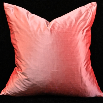 73. Shantung Silk Cushion Salmon 18SQ