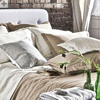Designers Guild Biella Birch Linen Bedding