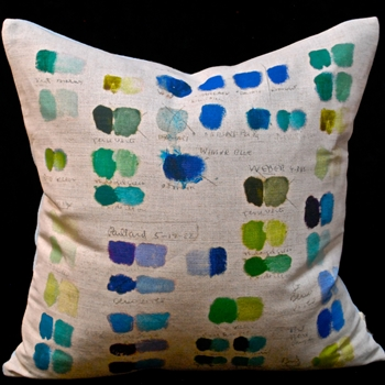 32. Mixed Tones Cobalt Cushion 20SQ