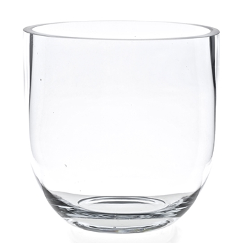 Vase - Clear Fat Bowl LG 9.9W/9.9H
