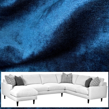 Sectional - Norway Lapis 136W/97L/37D/36H