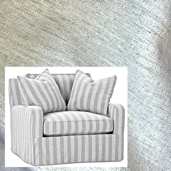 Armchair Charles Ivory Crypton 40W/43D/36H Slipcover