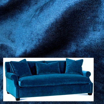 Sofa Bentley Lapis 85w/46D/35H Antique Black Leg