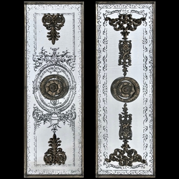 16W/48H Mirror French Panel Set of 2
