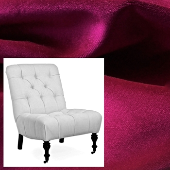 Armless Chair Parker Radiant Orchid 28W/36D/37H Pepper Castor Leg