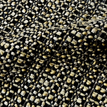 15. Black & Gold Jackie-O Tweed Pyrite