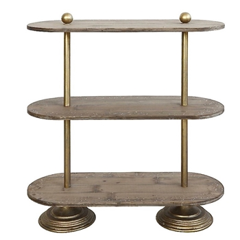 Bistro Stand Oval 3Tier 30W/10D/32H