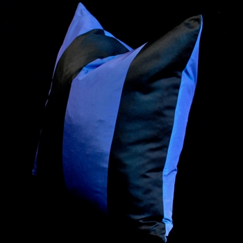 31. Silk Taffeta Stripe Blue Cushion 18SQ