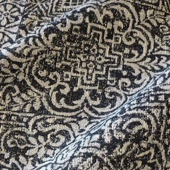 16. Black & White Normandy Jacquard