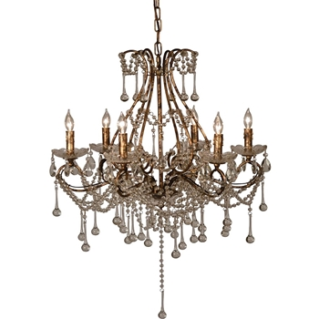 Chandelier Toulouse Vintage Crystal 24W/24H 6 Light