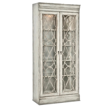 Curio - Arabella White Wash Seeded Glass 38W/17D/84h