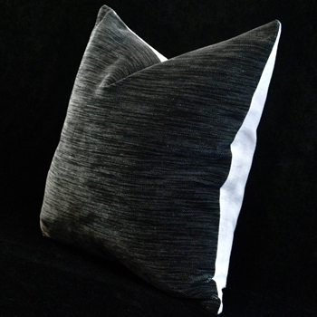 23. Ecstatic Velvet/Linen Cushion Graphite 18SQ